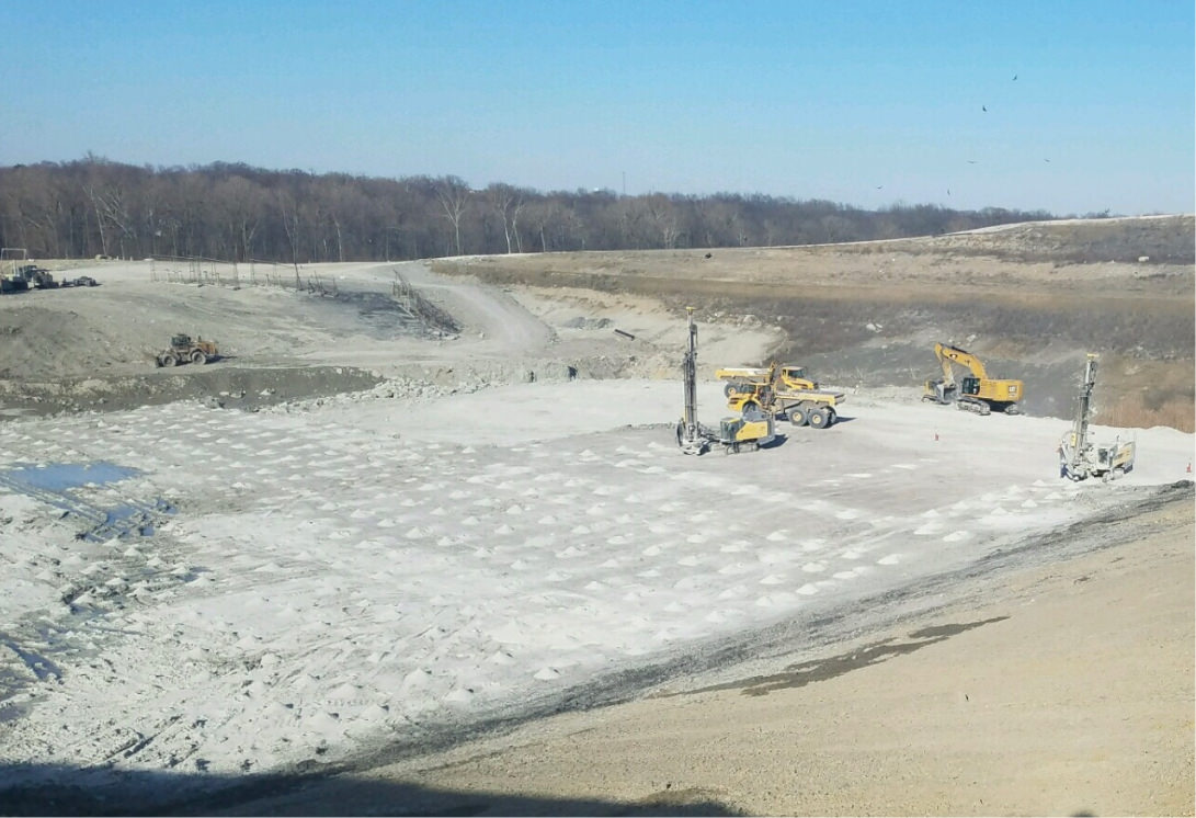 Landfill cell excavation project
